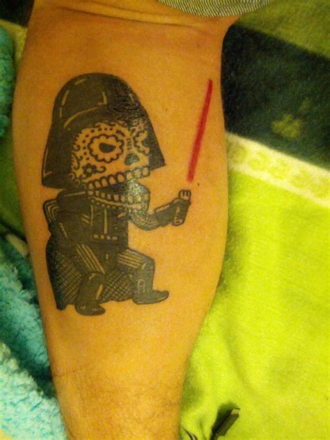 made in mexico tattoo my new darth vader sugar skull from wars