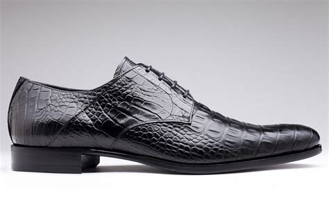 P Da Croco chaussure amalfi en croco noir pour homme finsbury shoes