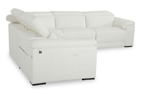 White Leather Recliners by Estro Salotti Palinuro White Leather Sectional Sofa W Recliners