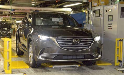 Mazda CX 9 begins production run in Hiroshima plant