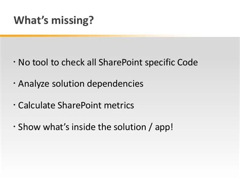 coding solution automated code quality analysis of sharepoint solutions
