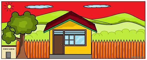 cara membuat robot untuk anak sd gambar rumah dan pemandangan gambarrrrrrr