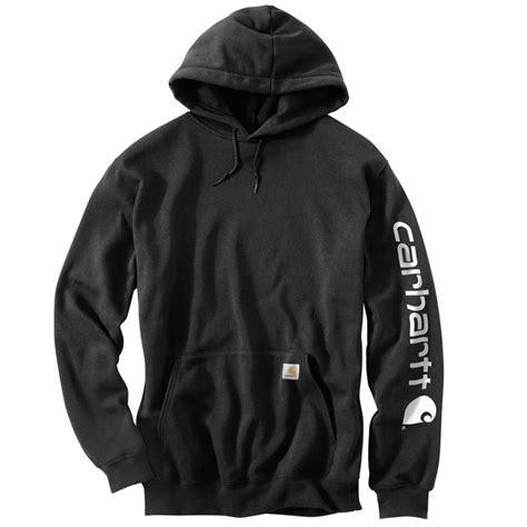 carhartt s midweight hooded logo sleeve sweatshirt k288