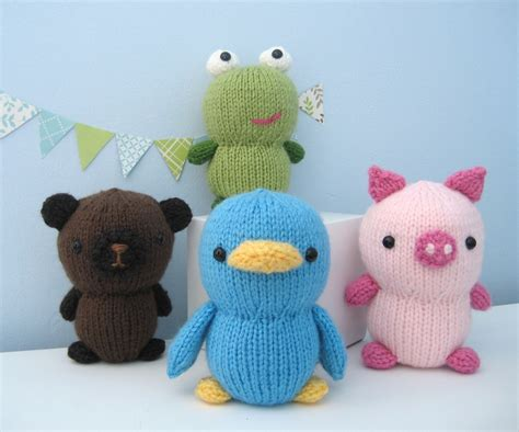 amigurumi knitting patterns amigurumi knit animal friends pattern set digital