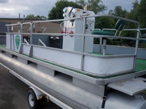 small pontoon boats for sale illinois smoke craft pontoon boat with homemade trailer for sale in
