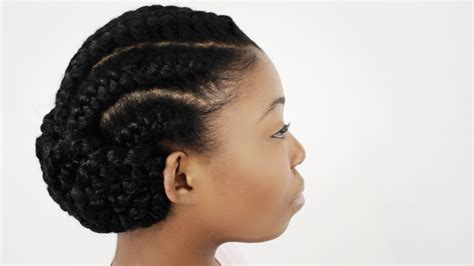 black goddess hairstyles goddess braids on natural hair finished hairstyle tutorial