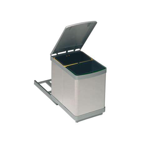 poubelle coulissante cuisine poubelle bacs 15l inox ilovedetails com