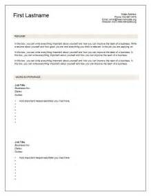 Blank Resume Template by 7 Free Blank Cv Resume Templates For Free Cv Template Dot Org