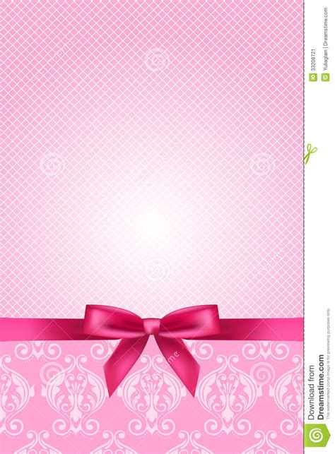 wallpaper with pink bows pink wallpaper with bow stock image image 33208721
