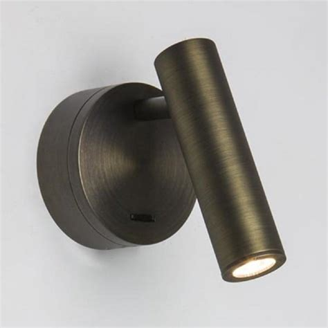 over bed wall light with integral led book light hotel over bed led book light bronze finish with integral switch