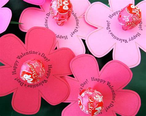 valentine s day lollipop flowers with free printables a 35 printable valentines day cards and activities free