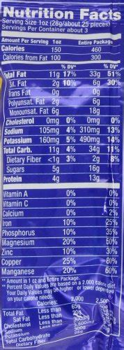 Planters Peanuts Nutrition Facts by Planters Roasted Peanuts Ounce