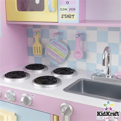 pastel kitchen kidkraft pastel play kitchen 53181
