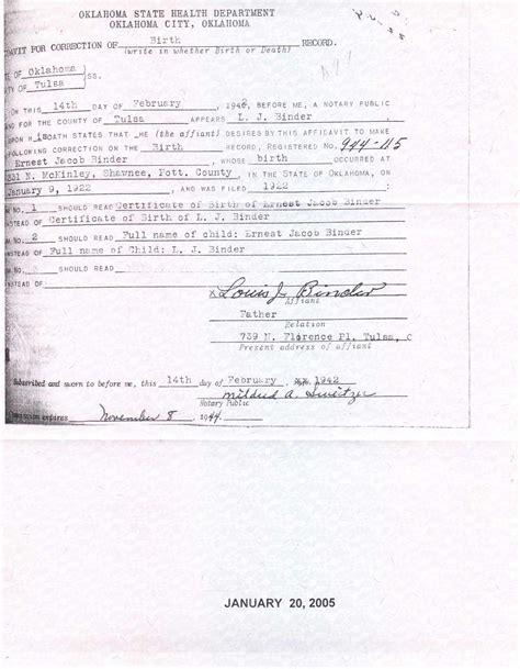 Birth Records Tulsa Ok Birth Certificate Tulsa Oklahoma Images Birth Certificate Design