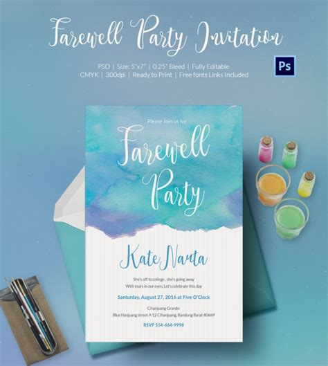invitation card templates for farewell farewell invitation template 25 free psd format