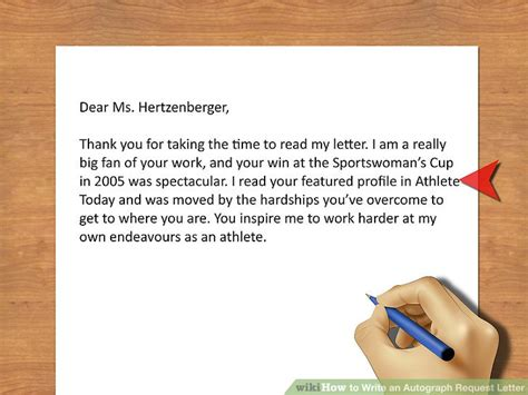 how to write an autograph request letter 11 steps with pictures