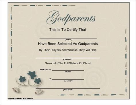 godparent certificate template 16 best baby images on baby ideas children