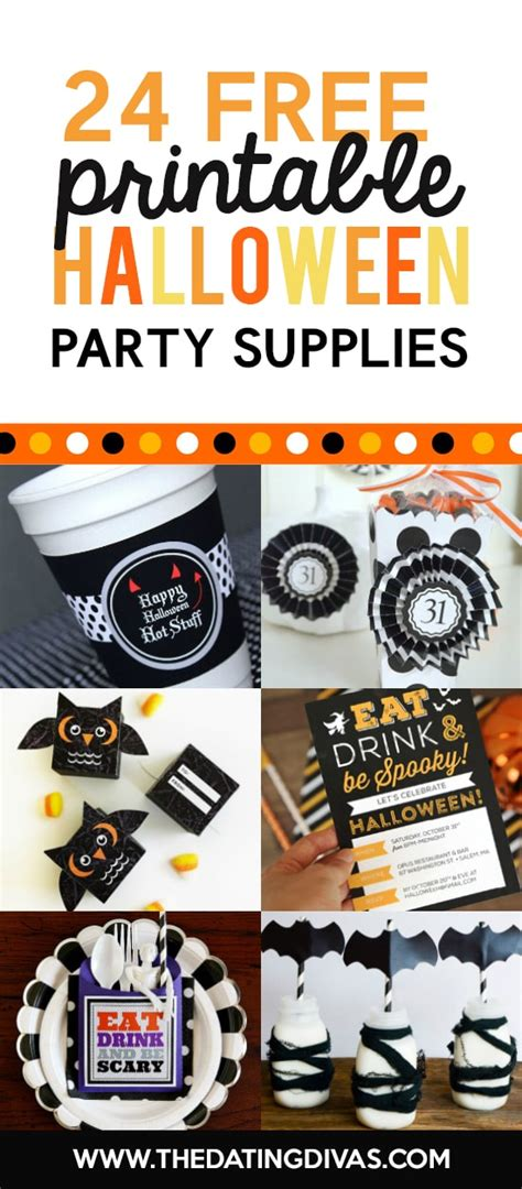 free printable halloween party decorations 101 free halloween printables the dating divas