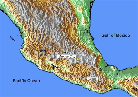 topographic map mexico mexico map topographical