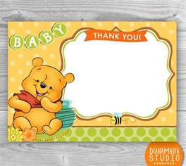 items similar to baby shower thank you cards winnie the pooh printable baby shower thank you