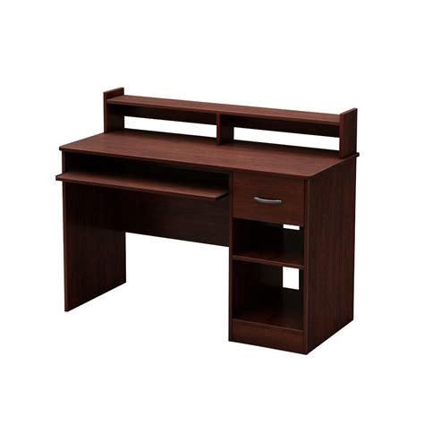 south shore desk with hutch south shore axess royal cherry desk with hutch 7246076