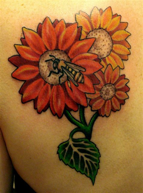 gerbera tattoo designs flowers bee that but with gerber daisies