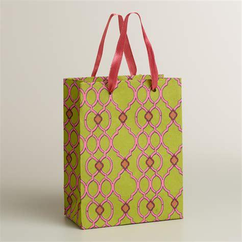 Handmade Gift Bag - small ethel green handmade gift bag world market