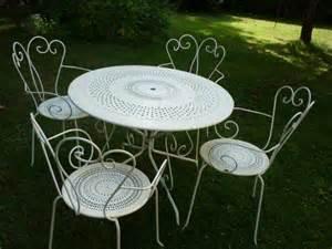 chaises et table en fer forg 233 le paysagiste