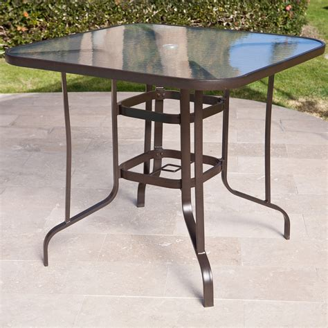 Patio Table Height Coral Coast Balcony Height Outdoor Dining Table Patio Dining Tables At Hayneedle