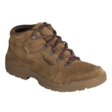 boots and shoots waterproof boots brown decathlon