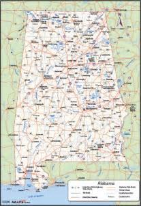 road map of alabama usa alabama counties map maps