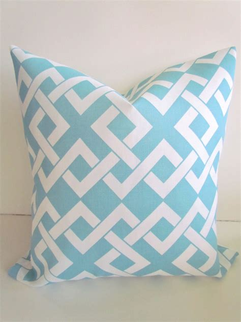 sale outdoor throw pillows 20x20 light blue by