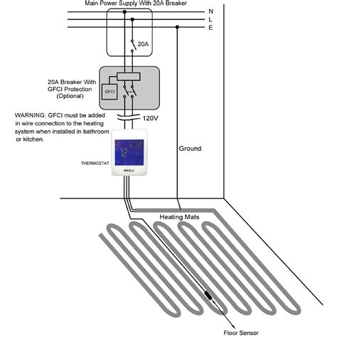 radiant ceiling heat thermostat aleko electric tile radiant floor heating system