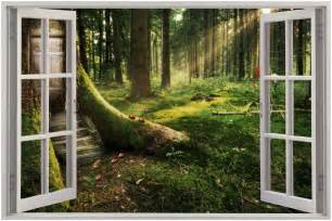 enchanted forest wall stickers details about huge 3d window view enchanted forest wall