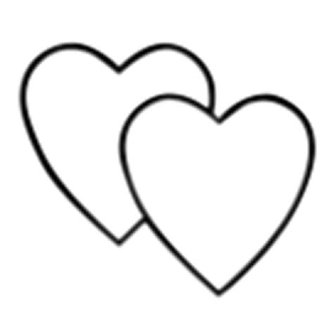 double heart coloring page double hearts clip art cliparts co