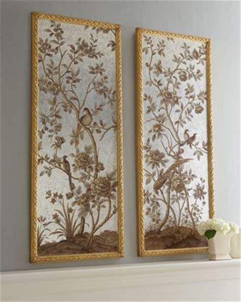 framed chinoiserie wallpaper panels  horchow digital