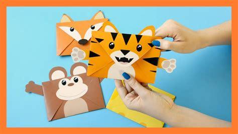 printable animal envelopes free animal envelopes printable templates diy youtube