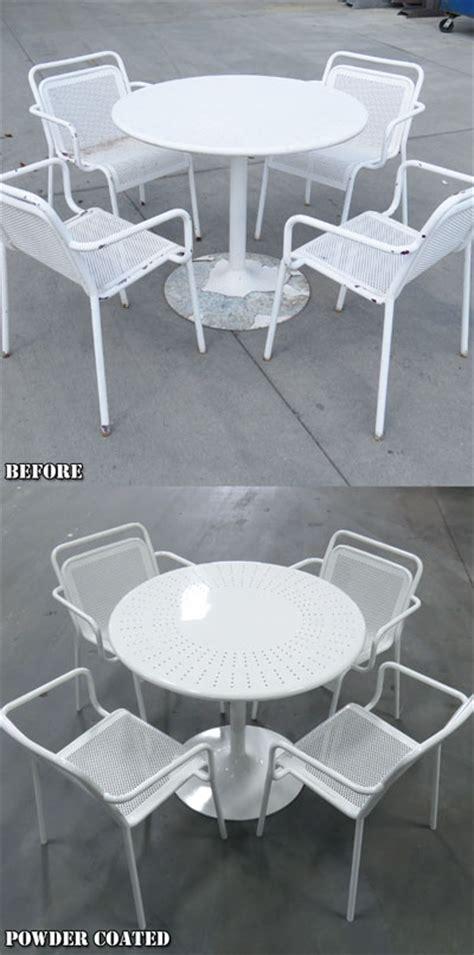 patio furniture restoration indianapolis powder coating photos indianapolis indiana ids blast