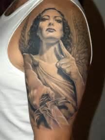 amazon angel half sleeve tattoo designs tattoo love