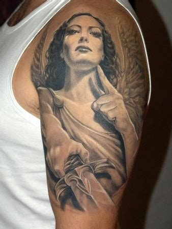 amazon angel half sleeve tattoo designs tattoo love