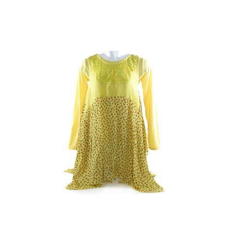 Kemeja Lengan Panjang Motif Bunga blouse gown atasan cewek lengan panjang motif bunga 018001286
