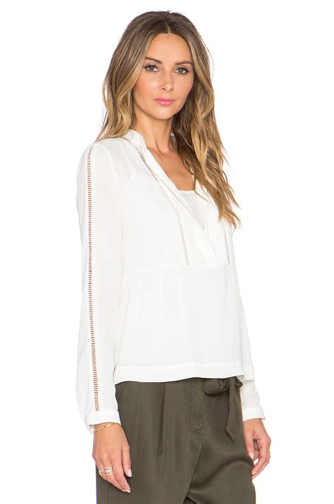 New Blouse 1 lyst 1 state sleeve pintuck blouse in white
