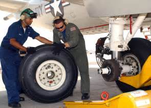 Car Jet Tires File Two Replace A Landing Gear Tire Of A Plane
