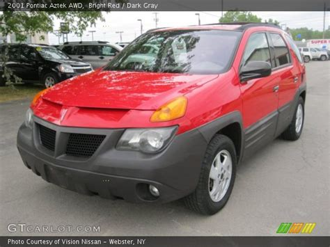 pontiac aztek red bright red 2001 pontiac aztek awd dark gray interior