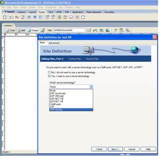 membuat koneksi database php mysql dengan dreamweaver membuat koneksi database dengan dreamweaver aplikasi web