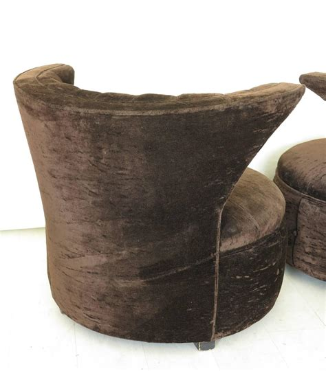 Overstuffed Chairs For Sale Overstuffed Barrel Lounge Chairs Tufted Backs With Wings