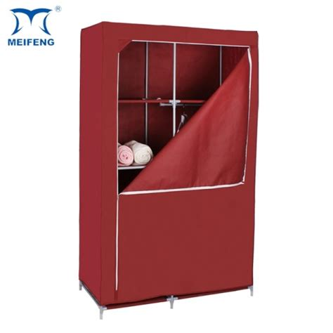 meifeng fabric covered clothes folding wardrobe plastic