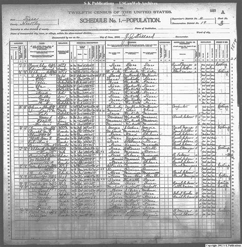 Hockley County Records Census Records 14 Henderson Houston Counties Census