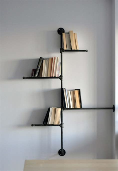 Home Design Contemporary Corner Black Wall Mount Corner Wall Bookshelves