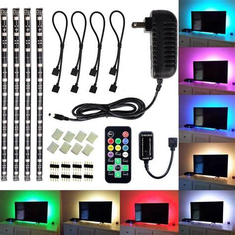 led strip lights amazon amazon com led tv backlight light kit avawo 174 computer